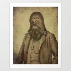 Chancellor Chewie Art Print by Terry Fan - $18.00
