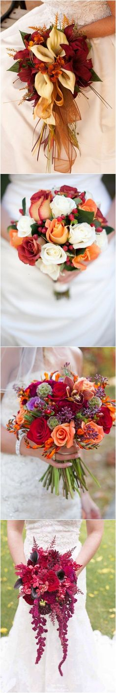 Fall Wedding Bouquets for Autumn Brides / http://www.himisspuff.com/fall-wedding-bouquets-for-autumn-brides/