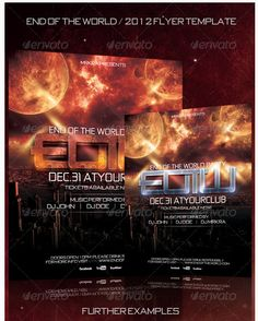 EOTW 2012 New Years Flyer Template - Party Flyer Templates For Clubs Business & Marketing