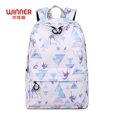 439be6fa90 Find More Backpacks Information about WINNNER Fashion Waterproof Women  Backpack Geometric Pattern Printing Polyester Large Capacity