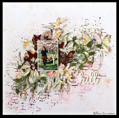 Changing ideas...never get stocked on a mixed media layout, just change ideas.... Great video tutorial by Wilma Voermans