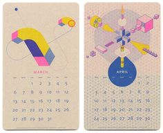 January 8th, 2016 by retail design blog These calendars stand out in any home, office, or studio with their perfect combination of Fluorescent Pink, Blue, and Yellow soy-based inks, and printed on ...