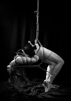 erotic suspension free Japanese rope