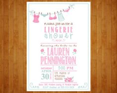 Bridal Shower Invite Lingerie Party DIY by CreativeKittle