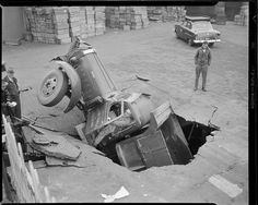 Accidentes de auto vintage