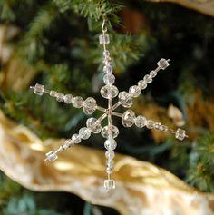 Snowflake ornament suncatcher от PossumCreekDesign на Etsy