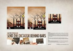 This flyer creatively showed the difference the participant could make in Darfur by signing a petition
