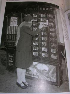 The vending machine Paddington Station. London, 1929