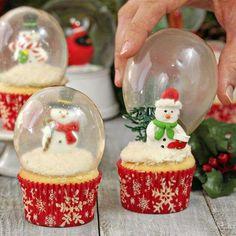 Snowman Globe Cupcakes