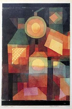 Paul Klee 'Sunset in the City' 1922 徒然