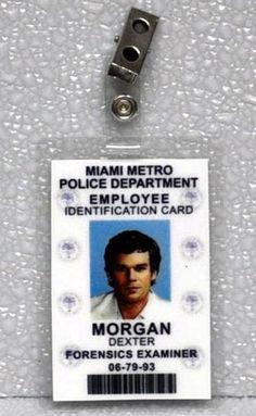Dexter ID Badge-Forensics Examiner Morgan Dexter