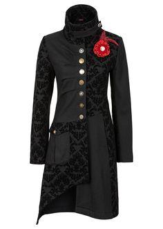 Płaszcz Ze stójką i ozdobnymi różnymi • 319.99 zł • bonprix