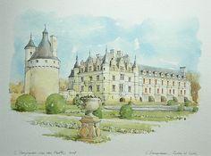 Chenonceau, Indre-et-Loire, France by Linda Vanysacker