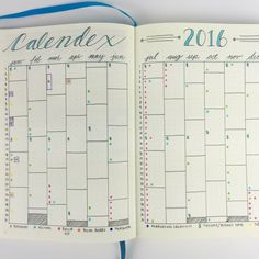 Eddy Hope's Calendex is a great method of future planning in your Bullet Journal!
