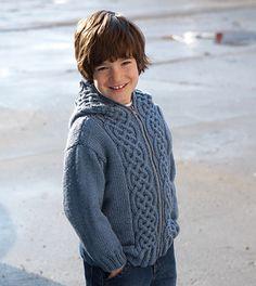 Yarnspirations patons hooded jacket for boy patterns skill level intermediate fandeluxe Gallery