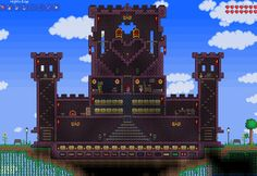 Terraria Castle by LillaMow