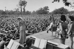 In July 1944, LIFE magazine photographer Ralph Morse was on hand for what he called, in his typed notes from the scene, the 'first organized entertainment in Normandy' after D-Day.