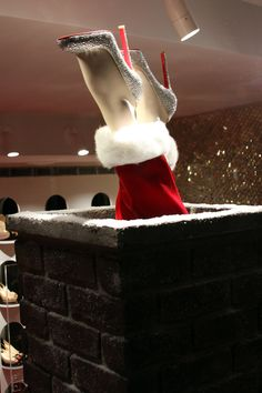 christian louboutian holiday window...tres holiday chic