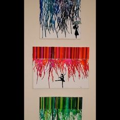 Melted crayon art Great Idea for Beta Convention