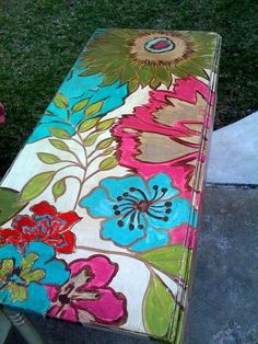 Hand PaintedFurniture ~ Funky Floral