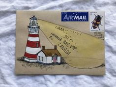 Lighthouse mailart. #mailart #buildingsmailart