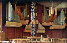 The Organ in Memorial Chapel at Valparaiso University, circa - Valparaiso, Indiana Valparaiso University, Religion, Church Pictures, Vintage Menu, Lutheran, Musical Instruments, Indiana, Musicians, Modern Design