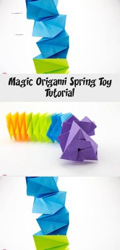 Magic Origami Spring Toy Tutorial, Learn how to make a fun magic origami spring toy. This accordion type origami gadget is addictive to play with, impress your friends! Origami Leaves, Origami Lotus Flower, Origami Rose, Origami Stars, Origami Cup, Origami Envelope, Diy Origami, Oragami, Origami Instructions