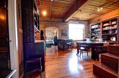 Wood Ceilings, Bedroom Loft, Wall Storage, Exposed Brick, Large Windows, Kitchen And Bath, Beams, The Unit, Flooring