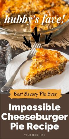 Impossible Cheeseburger Pie - Super easy and delicious! This yummy recipe is full of cheesy beefy flavor that everyone loves.
