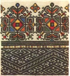 FolkCostume&Embroidery: Embroidery of Zastawna county, Cherniwtsi oblast, Bukovyna, Ukraine Folk Embroidery, Learn Embroidery, Embroidery Needles, Cross Stitch Embroidery, Embroidery Patterns, Machine Embroidery, Antique Quilts, Brick Stitch, Embroidery Techniques