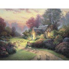 The Good Shepherd's Cottage ~ Thomas Kinkade