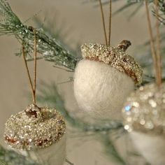pretty acorn ornaments