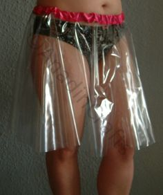 TRANSPARENT PVC XL Circle Skirt by AnadinCrafts on Etsy