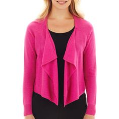 Worthington® Long-Sleeve Metallic-Flecked Sweater - Petite  found at @JCPenney