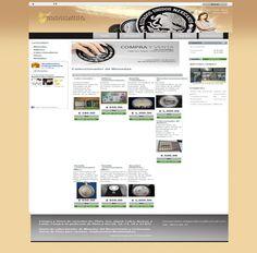 Diseño web y tienda virtual de Numismatica Independencia