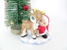 Vintage Christmas 1960's Lefton Reindeer and by ThirstyOwlVintage, $25.50