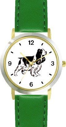 English Springer Spaniel Dog - WATCHBUDDY® DELUXE TWO-TONE THEME WATCH - Arabic Numbers - Green Leather Strap-Children's Size-Small ( Boy's Size & Girl's Size ) WatchBuddy. $49.95. Save 38%!
