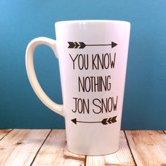 You Know Nothing Jon Snow Game of Thrones Inspired Coffee Mug