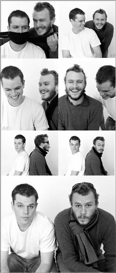 I miss watching Heath Ledger on the Big Screen. He was such a GREAT actor.    Matt Damon and Heath Ledger