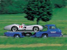 Epic classic. Mercedes-Benz' 'Blue Wonder' Renntransporter 