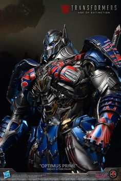 Prime 1 Studio's limited edition Optimus Prime statue from Transformers: The Last Knight Optimus Prime Transformers, Iron Man Arc Reactor, Michael Bay, Last Knights, Paramount Pictures, Sideshow Collectibles, Dreamworks, Kpop, Popsicle Stick Crafts