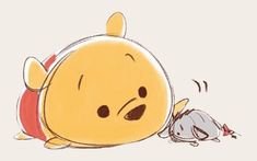 Tsum Tsum pooh and eeyore LINE stickers Disney Sketches, Disney Drawings, Cute Drawings, Disney And Dreamworks, Disney Pixar, Disney Magic, Disney Art, Pinturas Disney, Tsumtsum