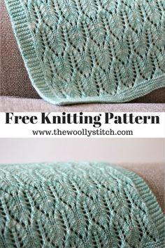 This knit blanket pattern is a stunner it features lace knitting for the more advanced knitter or for the knitter who is willing to try n...