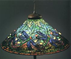 Dragonfly and Water Lamp, designed by Clara Driscoll, Circa 1906