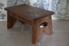 Build a DIY Wooden Step Stool With These Free Plans: Ana White's Free Single Step Stool Plan