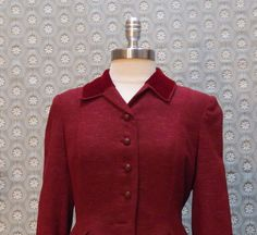 Vintage Burgundy  British Fitted Cut Jacket with by ellauniverse, $54.00