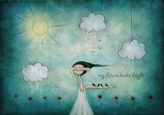 """My future looks bright"" Art Prints by Amanda Cass Arthur Ashe, Framed Prints, Canvas Prints, Art Prints, Art Carte, Bright Art, Paz Interior, Art Et Illustration, Quites"