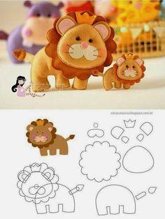 molde rei leão em feltro - Pesquisa Google
