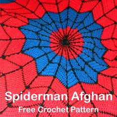 Crochet+For+Children:+Spiderman+Afghan+Free+Crochet+Pattern