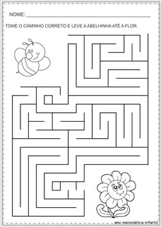 Symmetry Worksheets, Tracing Worksheets, Preschool Worksheets, Learning Activities, Kids Learning, Activities For Kids, Maze Worksheet, Early Finishers Activities, Mazes For Kids
